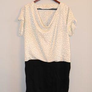 Loft Black and White Polkadot Dress